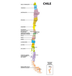 Administrative and political map chile vector