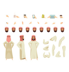 arab man constructor set vector image