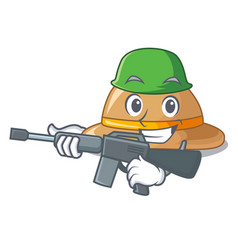 Army cork hat isolated on the mascot vector