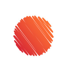Background circle orange abstract scribble vector