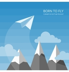 Background with paper airplanes vector
