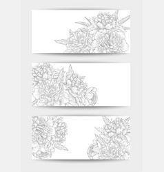 beautiful black and white set horizontal vector image