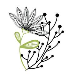 Beautiful flower decoration icon vector