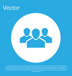 Blue users group icon isolated on blue background vector