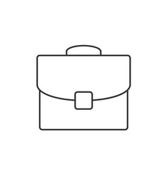 briefcase outline icon vector image