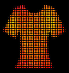 bright pixel lady t-shirt icon vector image