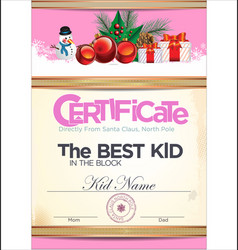 Certificate best kid in the block 2 vector