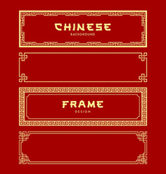 Chinese frame banners collections vector
