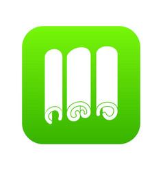 Cinnamon icon digital green vector