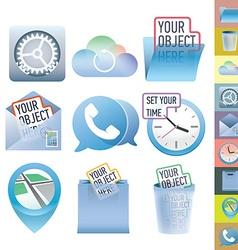 Clean icon set vector