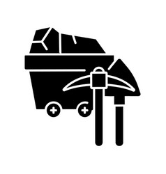 coal industry black glyph icon vector image