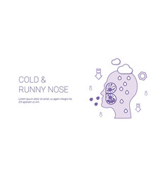 Cold and runny nose web banner with copy space vector