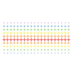 collide arrows shape halftone spectrum grid vector image