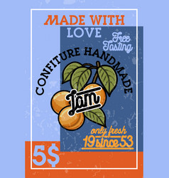 color vintage confiture banner vector image
