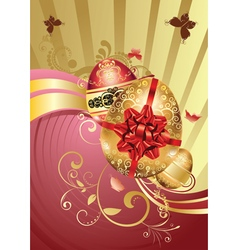 Decorative Easter Background4 vector image