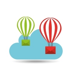 Email balloon cloud mail vector