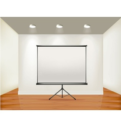 empty presentation screen vector image