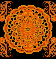 ethnic colorful elegance bright mandala seamless vector image
