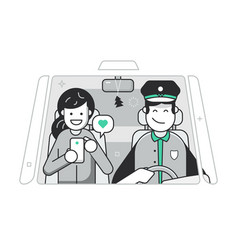 excellent taxi service concept in flat design vector image