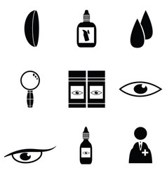 eye doctor icon set vector image