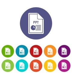 File PPT set icons vector image