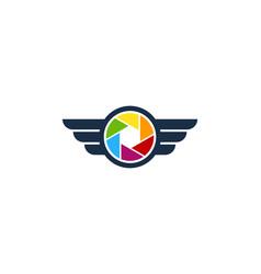 Fly camera logo icon design vector