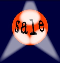 Globe sale sign vector