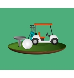 golfing related icons image vector image