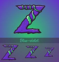 Halloween decorative alphabet - Z letter vector