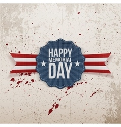 Happy Memorial Day patriotic Banner with Text vector image