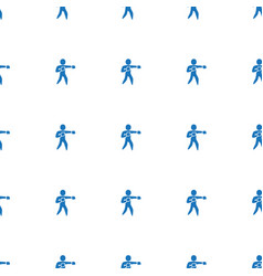 Icon pattern seamless white background vector