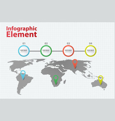 infographic element world map infographics vector image