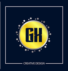 initial letter gx logo template design vector image