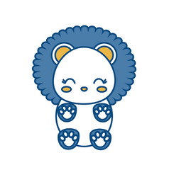 Kawaii lion icon vector