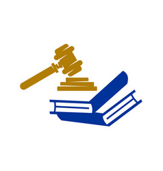 Law justice firm book logo design icon template vector
