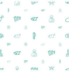 Leg icons pattern seamless white background vector