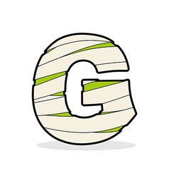 Letter G Mummy Typography icon in bandages vector image