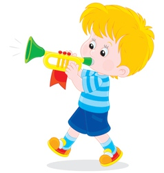 Little trumpeter vector image