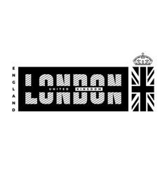 london united kingdom t-shirt printing design vector image
