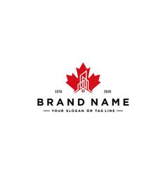 Maple building logo design vector