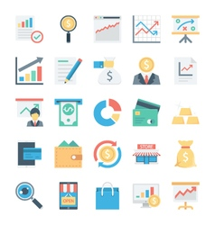 Market and Economics Colored Icons 3 vector