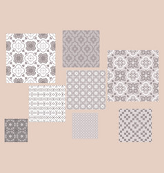 Moroccan style tiles ornament pattern print vector