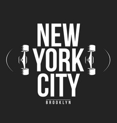 new york skateboarding typography for t-shirt vector image