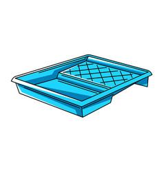 Paint tray repair working tool vector
