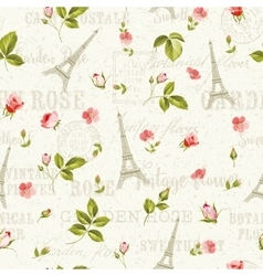 Pattern with red flowers vector