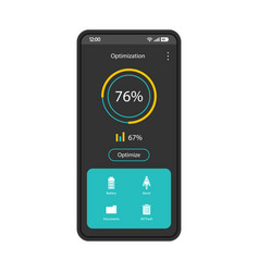 Phone optimizer cleaner interface template vector