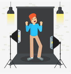 photostudio guy cool vector image