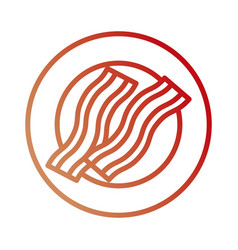 Plate with bacon vector