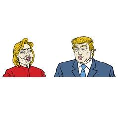 Presidential Candidates Debate Trump Hillary vector