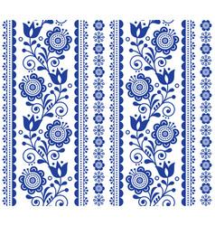 Scandinavian seamless pattern with flowers vector
